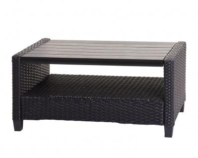 Garnitur HWC-J35, Lounge-Set Sitzgruppe Sofa, Spun Poly halbrundes Poly-Rattan ~ anthrazit, Kissen anthrazit - Vorschau 5