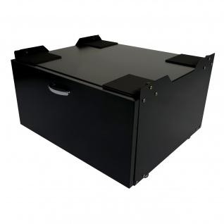 Waschmaschinenunterschrank HWC-E50, Sockel Podest Erhöhung Untergestell, Schublade 33x61x52cm - Vorschau 2