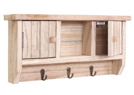 Schlüsselbrett HWC-A48, Schlüsselkasten Schlüsselboard mit Türen, Massiv-Holz ~ natur - Vorschau 4