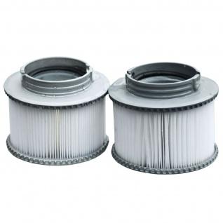 2x Wasserfilter für Whirlpool MSpa M-009LS/019LS HWC-A62, Ersatzfilter Filterkartusche, Zubehör - Vorschau 1
