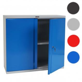 Aktenschrank Valberg T330, Metallschrank, 2 Türen 84x92x37cm ~ blau