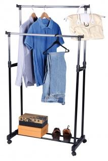 Garderobenständer LD29, Kleiderständer Garderobe, höhenverstellbar, 96-170cm