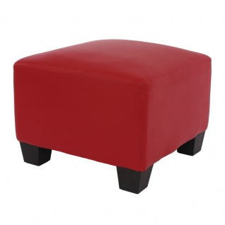 Modular Sofa Lyon Kunstleder rot ~ Ottomane