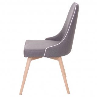 2x Esszimmerstuhl HWC-B44, Stuhl Küchenstuhl, Retro 50er Jahre Design Stoff/Textil dunkelgrau - Vorschau 4