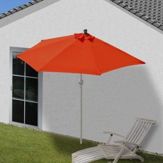 Sonnenschirm halbrund Parla, Halbschirm Balkonschirm, UV 50+ Polyester/Alu 3kg - Vorschau 2