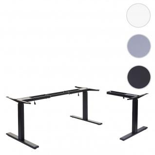 Gestell HWC-D40, variables Tischgestell für Eck-Schreibtisch, elektrisch höhenverstellbar Memory 45kg ~ schwarz