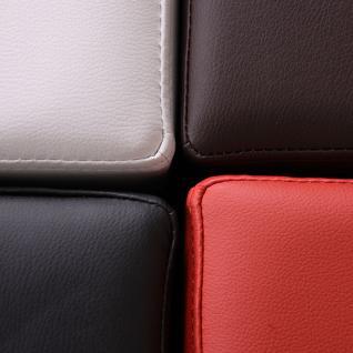 Sitzhocker Paris Sitzwürfel Hocker, Kunstleder, 40x38x38 cm braun - Vorschau 3