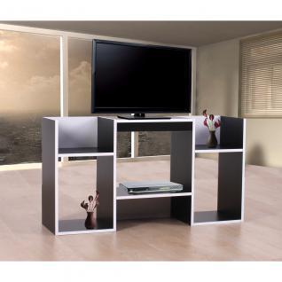 TV-Rack Fernsehtisch Standregal aus Holz 109x59x30 cm ~ schwarz