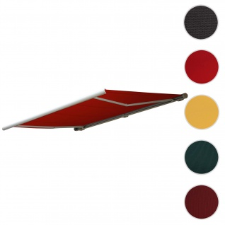 Bezug für Markise T123, Vollkassette Ersatzbezug Sonnenschutz 4, 5x3m ~ Polyester bordeaux-rot