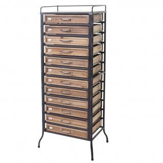 Apotheker-Schrank HWC-A43, Tanne Holz massiv Vintage Shabby-Look 129x55x38cm - Vorschau 3
