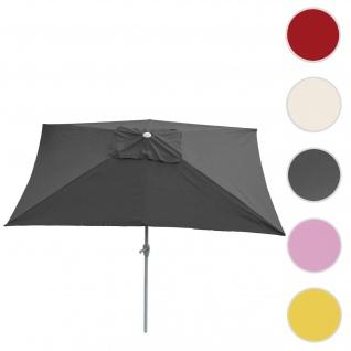 Sonnenschirm N23, Gartenschirm, 2x3m rechteckig neigbar, Polyester/Alu 4, 5kg ~ anthrazit