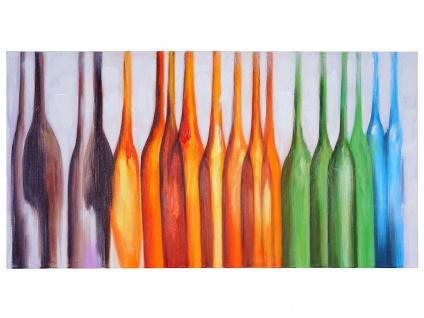 Ölgemälde Flaschen, 100% handgemaltes Wandbild Gemälde XL, 135x70cm - Vorschau 4