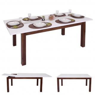 Esstisch HWC-B51, Esszimmertisch Tisch, ausziehbar hochglanz Walnuss-Optik 160-200x90cm