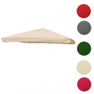 Bezug für Luxus-Ampelschirm HWC-A96 mit Flap, Sonnenschirmbezug Ersatzbezug, 3, 5x3, 5m (Ø4, 95m) Polyester 4kg ~ creme