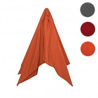 Bezug für Sonnenschirm Florida, Sonnenschirmbezug Ersatzbezug, 3x4m Polyester 6kg ~ terrakotta