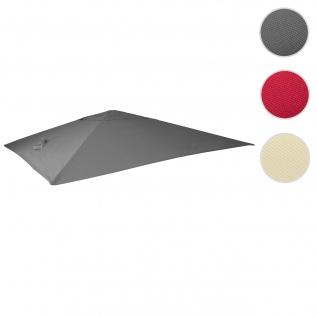 Bezug für Luxus-Ampelschirm HWC-A96, Sonnenschirmbezug Ersatzbezug, 3, 5x3, 5m (Ø4, 95m) Polyester 4kg ~ anthrazit
