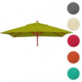 Bezug für Gastronomie Holz-Sonnenschirm HWC-C57, Sonnenschirmbezug Ersatzbezug, eckig 3x3m Polyester 3kg ~ lemon-grün