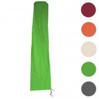 Schutzhülle HWC für Ampelschirm bis 3, 5 m, Abdeckhülle Cover mit Reißverschluss ~ grün