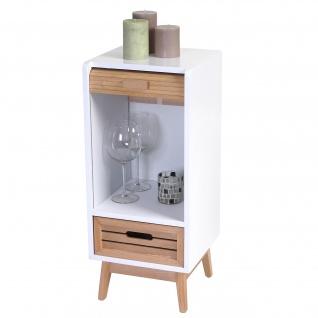 Kommode Larvik, Rollladen- Schubladenschrank, Retro-Design 71x30x30cm 1 Schublade - Vorschau 1