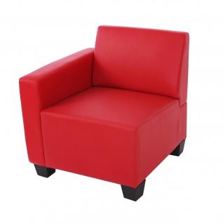Modular Sofa Lyon Kunstleder rot ~ Seitenteil links