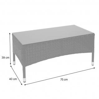 Poly-Rattan Garnitur HWC-F55, Balkon-/Garten-/Lounge-Set Sofa Sitzgruppe ~ schwarz, Kissen creme - Vorschau 4
