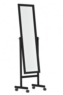 Standspiegel CP350, Ankleidespiegel Spiegel, Holz ~ schwarz