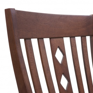 2x Esszimmerstuhl HWC-G62, Küchenstuhl Lehnstuhl Stuhl, Stoff/Textil Massiv-Holz Landhaus dunkles Gestell, grau - Vorschau 3