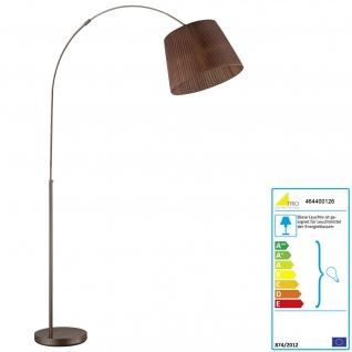 Trio Bogenlampe RL167, Stehleuchte Standleuchte Bogenleuchte, Organza braun 195cm