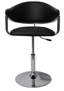 6x Barhocker Dema, Barstuhl Tresenhocker Lounge Stuhl, Kunstleder ~ schwarz