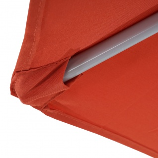 Sonnenschirm halbrund Parla, Halbschirm Balkonschirm, UV 50+ Polyester/Alu 3kg - Vorschau 3