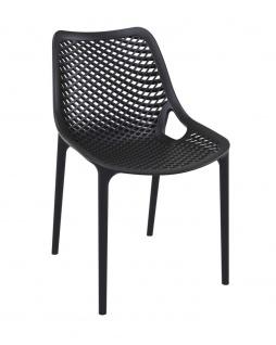 Gartenstuhl CP336, Bistrostuhl Stuhl ~ schwarz