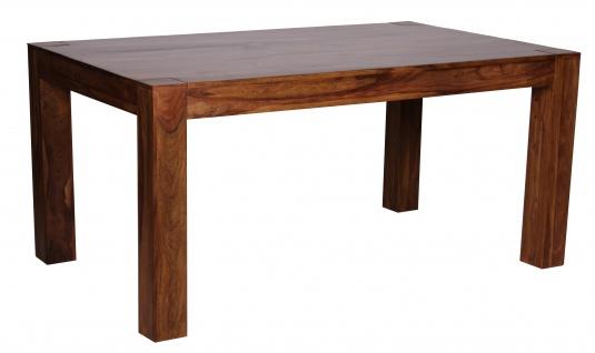 Esszimmertisch Malatya, Tisch Esstisch, Sheesham Massivholz, ausziehbar, 160-240cm