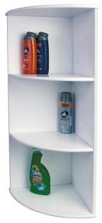 Badezimmer-Eckregal Badregal Regal, weiß, 80x30x30