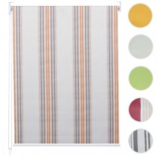 Rollo HWC-D52, Fensterrollo Seitenzugrollo Jalousie, Sonnenschutz Verdunkelung blickdicht 60x160cm ~ grau/braun/orange