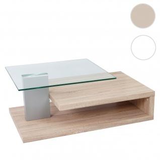 MCA Couchtisch HL Design Matthias, Wohnzimmertisch, 40x104x60cm Eiche-Optik