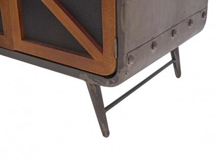 Sideboard HWC-F91, Kommode Schrank Highboard, Industrial Tanne Holz Metall 80x126x38cm, braun-schwarz - Vorschau 5