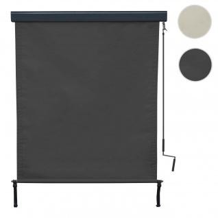Vertikalmarkise HWC-F42, Senkrechtmarkise Sichtschutz Außenrollo Rollo, UV-Schutz 50 Stoff ~ 250x140cm, anthrazit