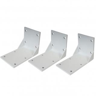 3x Deckenadapter für Kassetten-Markise T124, Deckenmontage Halterung Adapter