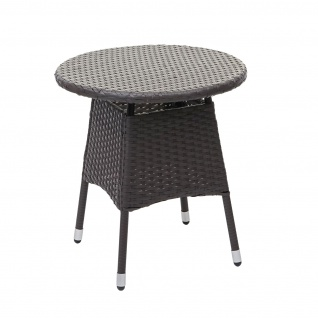 Poly-Rattan Balkonset HWC-G27, Sitzgarnitur Gartengarnitur Sitzgruppe, 2xSessel+Tisch grau, Kissen creme - Vorschau 5