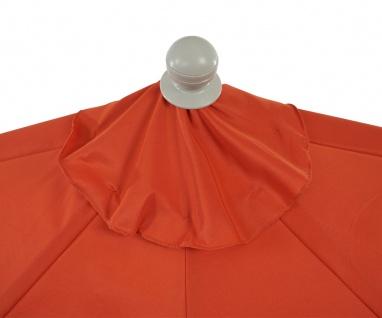 Sonnenschirm halbrund Parla, Halbschirm Balkonschirm, UV 50+ Polyester/Alu 3kg - Vorschau 4