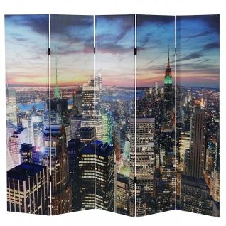 LED-Paravent New York, Timer, netzbetrieben 180x200cm 30 LEDs