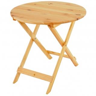 Holztisch Olbia II, Gartentisch Klapptisch, 76x80x80cm, Gastroqualität