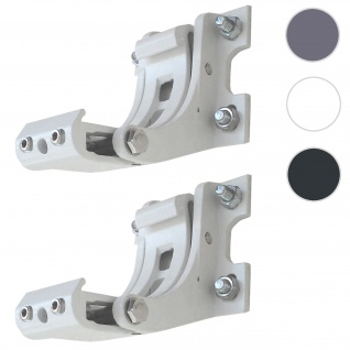 2x Wandhalterung für Markise T122, T123, Wandkonsole Wandmontage Adapter ~ weiß