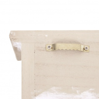 Schlüsselbrett HWC-A48, Schlüsselkasten Schlüsselboard mit Türen, Massiv-Holz ~ shabby beige - Vorschau 5
