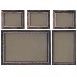 Bilderrahmen Set, Fotorahmen Wand-Rahmen, 3x 19x24cm 1x 26x36cm 1x 36x51cm Holz Shabby Landhaus ~ braun