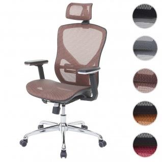 Bürostuhl HWC-A61, Schreibtischstuhl, Sliding-Funktion Stoff/Textil ISO9001 ~ mandarin/mandarin