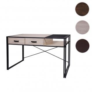 Schreibtisch HWC-H91, Bürotisch Computertisch, Industrial 76x120x70cm ~ Eiche-Optik
