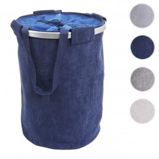 Wäschesammler HWC-C34, Laundry Wäschekorb Wäschesack Wäschebehälter mit Kordelzug, Henkel 55x39cm 65l ~ cord blau