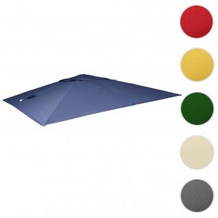 Bezug für Luxus-Ampelschirm HWC-A96, Sonnenschirmbezug Ersatzbezug, 3, 5x3, 5m (Ø4, 95m) Polyester 4kg ~ blau