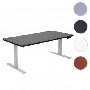 Schreibtisch HWC-D40, Bürotisch Computertisch, elektrisch höhenverstellbar Memory 160x80cm 53kg ~ schwarz, grau